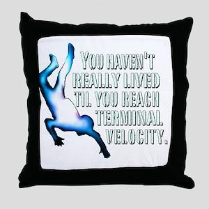 Terminal Velocity Throw Pillow