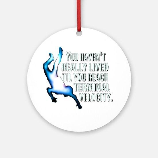 Terminal Velocity Round Ornament