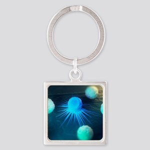 Immune response to cancer, artwork Square Keychain