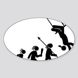 Trapeze-AAH1 Sticker (Oval)