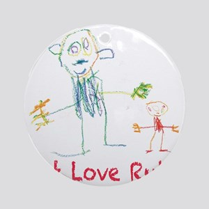 Let Love Rule Round Ornament