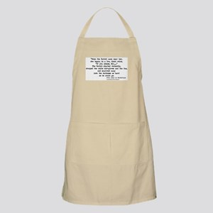 """Gloves/Fan"" Quote - BBQ Apron"