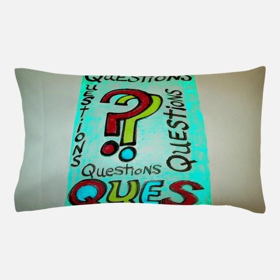 QUESTIONS cartoon design. Pillow Case