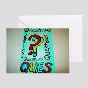 QUESTIONS cartoon design. Greeting Card