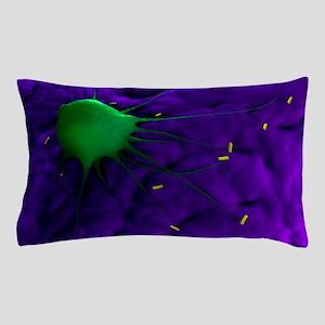 Macrophage attacking bacteria, artwork Pillow Case