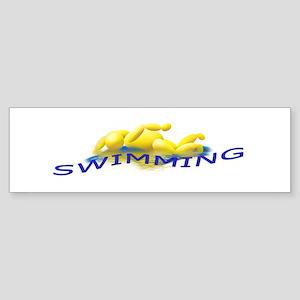 SWIMMING Bumper Sticker