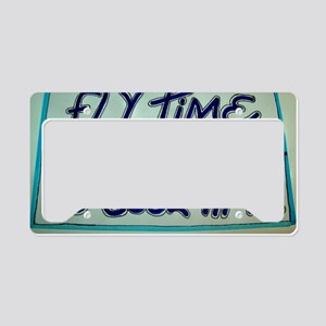 FLY TIME IS COOL TIME cartoon License Plate Holder