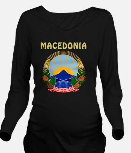Macedonia Coat Of Ar Long Sleeve Maternity T-Shirt