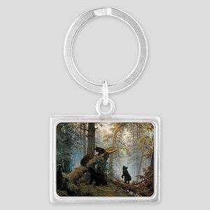 Ivan Shishkin Morning In A Pine Landscape Keychain