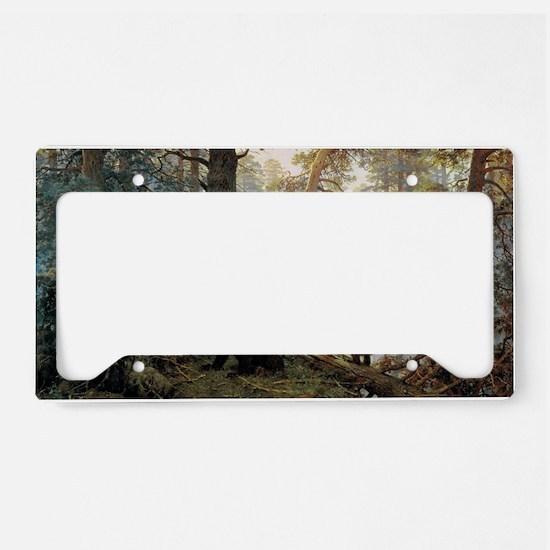 Ivan Shishkin Morning In A Pi License Plate Holder