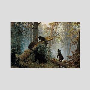 Ivan Shishkin Morning In A Pine F Rectangle Magnet