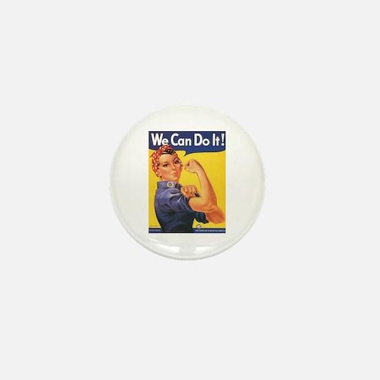 Women We Can Do It! Mini Button