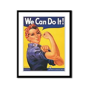 Women We Can Do It! Framed Panel Print