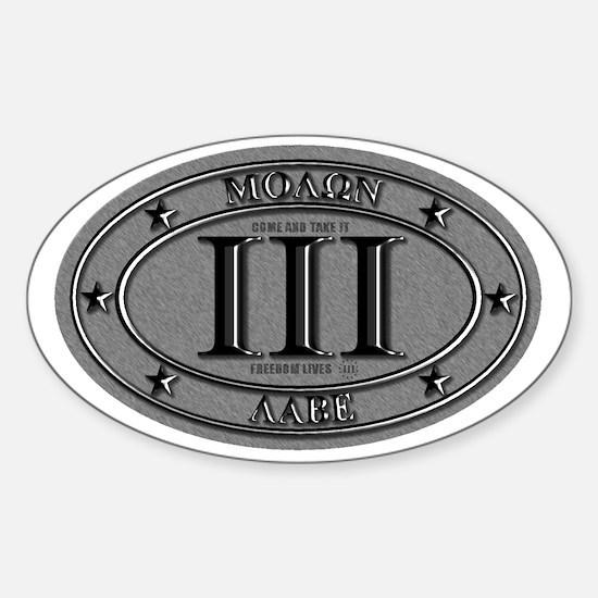 Molon Labe Oval Sticker (Oval)