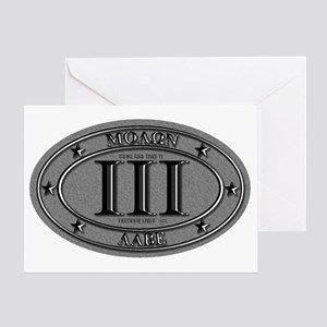 Molon Labe Oval Greeting Card