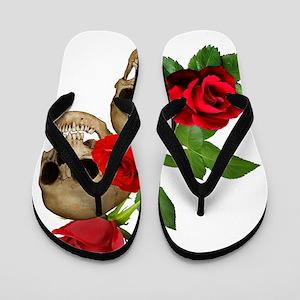 Skulls  Roses Flip Flops