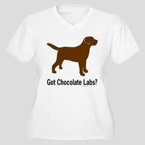Got Chocolate Labs II Women's Plus Size V-Neck T-S