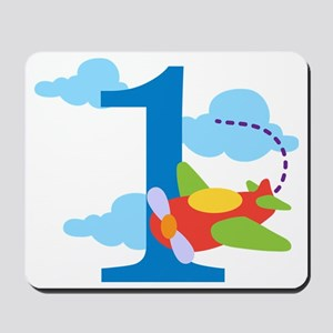 1st Birthday Airplane Mousepad