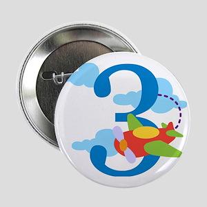 """3rd Birthday Airplane 2.25"""" Button"""