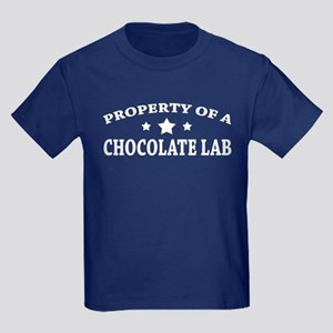 Property of Chocolate Lab Kids Dark T-Shirt