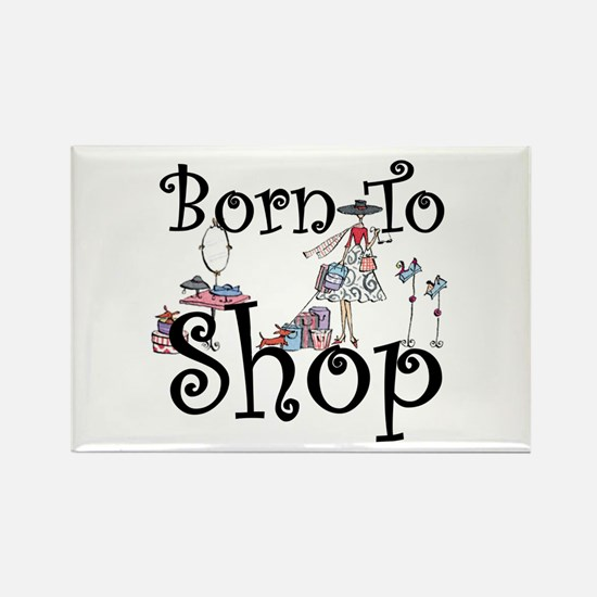Born to Shop Rectangle Magnet (10 pack)