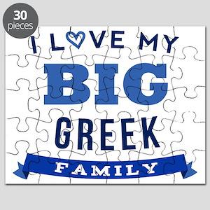 I Love My Big Greek Family Puzzle