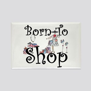 Born to Shop Rectangle Magnet