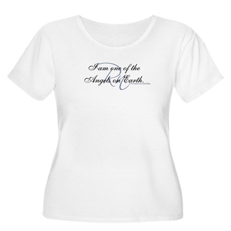 """I am an Angel"" Women's Plus Size Scoop Neck Shirt"