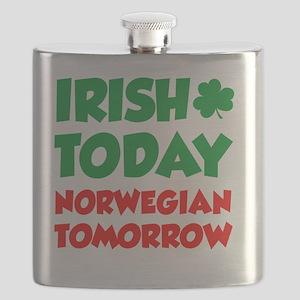 Irish Today Norwegian Tomorrow Flask