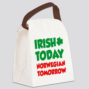 Irish Today Norwegian Tomorrow Canvas Lunch Bag