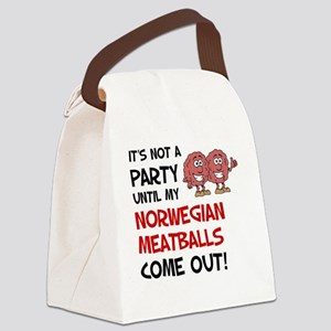 Not A Party Until Norwegian Meatb Canvas Lunch Bag