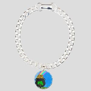 St. Patricks Day Charm Bracelet, One Charm