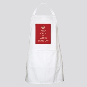 Keep calm and work some CW Apron