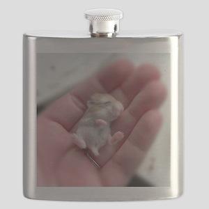 Adorable Sleeping Baby Hamster Flask