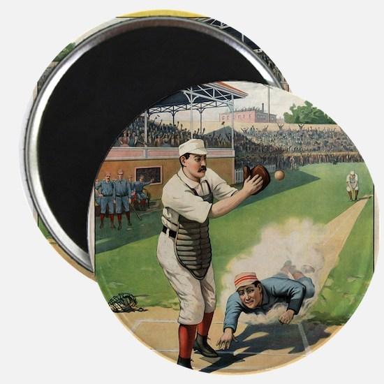 Runner Sliding Past Catcher - anonymous - 1897 - P
