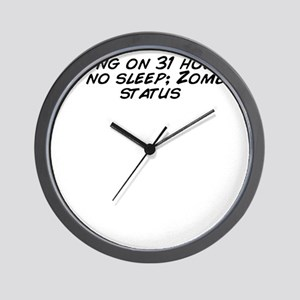 Going on 31 hours of no sleep; Zombie s Wall Clock