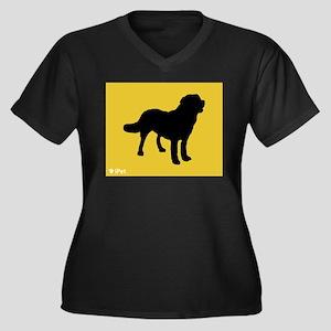 Chinook iPet Women's Plus Size V-Neck Dark T-Shirt