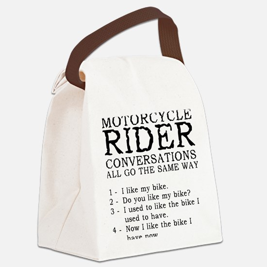 Motorcycle Rider Conversations Fu Canvas Lunch Bag