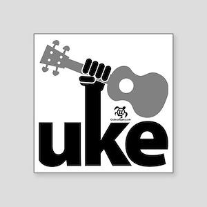 "Uke Fist Square Sticker 3"" x 3"""