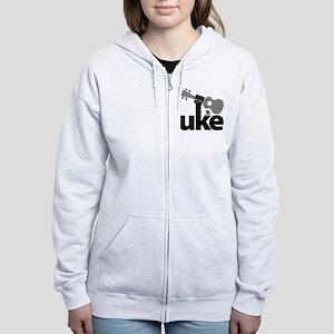 Uke Fist Women's Zip Hoodie