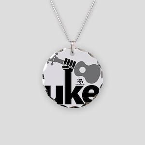 Uke Fist Necklace Circle Charm