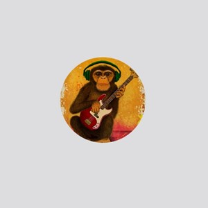 Funky Monkey Bass Player Mini Button