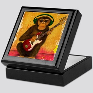 Funky Monkey Bass Player Keepsake Box