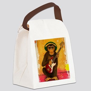 Funky Monkey Bass Player Canvas Lunch Bag