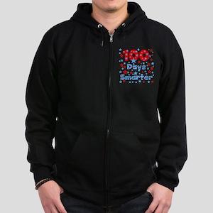 100 Days Smarter Zip Hoodie (dark)