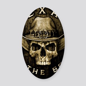 Texas to the bone Oval Car Magnet