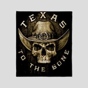 Texas to the bone Throw Blanket