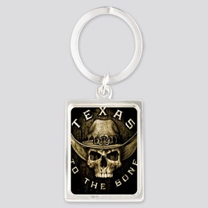 Texas to the bone Portrait Keychain