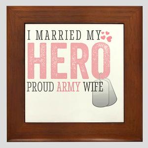 I Married my Hero Framed Tile