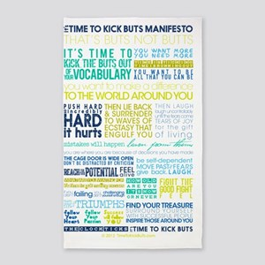 Manifesto Its Time To Kick BuTs Ver 3'x5' Area Rug